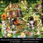 Secret Garden 1 MR Embellishment Pack-$2.25 (MagicalReality Designs)
