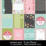 Love Story LJ Journal Cards-$1.99 (Lindsay Jane)