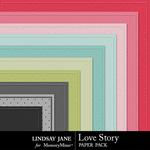 Love Story LJ Embossed Paper Pack-$1.99 (Lindsay Jane)