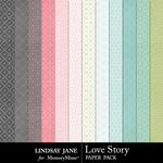 Love Story LJ Pattern Paper Pack-$1.99 (Lindsay Jane)