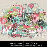 Love Story LJ Embellishment Pack-$3.49 (Lindsay Jane)