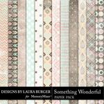 Something Wonderful Grunge Paper Pack-$3.49 (Laura Burger)