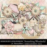 Something Wonderful Embellishment Pack-$2.49 (Laura Burger)