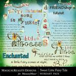 Sweet Little Fairytale WordArt Pack-$3.49 (MagicalReality Designs)