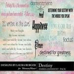 Destiny WordArt Pack-$2.49 (Laura Burger)