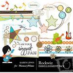 Rockwiz Embellishment Pack-$3.00 (Karen Lewis)