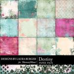Destiny Grunge Pattern Paper Pack-$3.49 (Laura Burger)