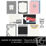 Dental and Braces Journal Cards-$2.49 (Albums to Remember)