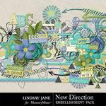 New Direction Embellishment Pack-$3.49 (Lindsay Jane)