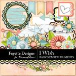 I Wish Basics Embellishment Pack-$3.99 (Fayette Designs)