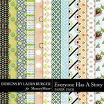 Everyone Has A Story Patterned Paper Pack-$3.49 (Laura Burger)