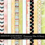 Everyone Has A Story Grunge Paper Pack-$3.49 (Laura Burger)