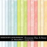 Everyone Has A Story Solid Paper Pack-$3.49 (Laura Burger)