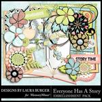 Everyone Has A Story Embellishment Pack-$2.49 (Laura Burger)