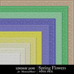 Spring Flowers LJ Embossed Paper Pack-$1.99 (Lindsay Jane)