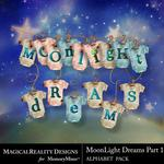 MoonLight Dreams Pt 1 Alphabet Pack 1-$3.89 (MagicalReality Designs)