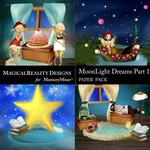 MoonLight Dreams Pt 1 Scenes Paper Pack 2-$3.99 (MagicalReality Designs)