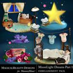 MoonLight Dreams Pt 1 Cluster Pack 1-$4.29 (MagicalReality Designs)