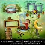 MoonLight Dreams Pt 2 Cluster Pack 1-$3.99 (MagicalReality Designs)