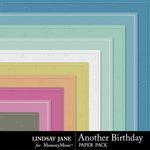 Another Birthday Embossed Paper Pack-$1.40 (Lindsay Jane)