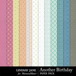 Another Birthday Pattern Paper Pack-$1.99 (Lindsay Jane)