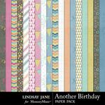 Another Birthday Paper Pack-$2.49 (Lindsay Jane)