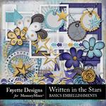 Written in the Stars Basics Embellishments-$3.99 (Fayette Designs)