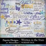 Written in the Stars WordArt Pack-$1.40 (Fayette Designs)