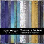 Written in the Stars Patterned Paper Pack-$3.99 (Fayette Designs)