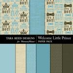 Welcome Little Prince Paper Pack-$2.99 (Tara Reed Designs)