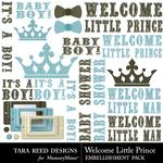 Welcome Little Prince Embellishment Pack-$2.99 (Tara Reed Designs)