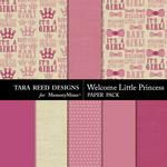 Welcome Little Princess Paper Pack-$2.99 (Tara Reed Designs)