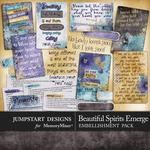 Beautiful Spirits Emerge Quote Cards-$2.99 (Jumpstart Designs)