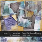 Beautiful Spirits Emerge Cardboard Paper Pack-$3.99 (Jumpstart Designs)