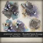 Beautiful Spirits Emerge Art Accents Pack-$2.49 (Jumpstart Designs)