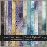 Beautiful Spirits Emerge Blended Paper Pack-$3.99 (Jumpstart Designs)