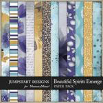 Beautiful Spirits Emerge Patterned Paper Pack-$3.49 (Jumpstart Designs)
