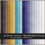Beautiful Spirits Emerge Plain Paper Pack-$3.49 (Jumpstart Designs)