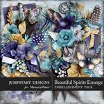 Beautiful Spirits Emerge Embellishment Pack-$3.49 (Jumpstart Designs)