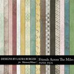Friends Across the Miles Patterned Paper Pack-$3.49 (Laura Burger)