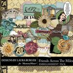 Friends Across the Miles Embellishment Pack-$2.49 (Laura Burger)