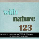 With Nature Alphabet Pack-$2.49 (Laura Burger)