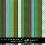 With Nature Embossed Paper Pack-$3.49 (Laura Burger)