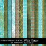 With Nature Patterned Paper Pack-$3.49 (Laura Burger)