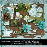 With Nature Embellishment Pack-$2.49 (Laura Burger)