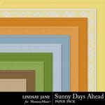 Sunny Days Ahead Embossed Paper Pack-$1.99 (Lindsay Jane)
