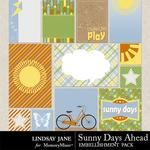 Sunny Days Ahead Journal Cards-$1.40 (Lindsay Jane)