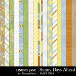 Sunny Days Ahead Paper Pack-$2.49 (Lindsay Jane)