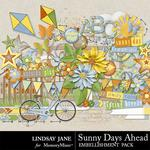 Sunny Days Ahead Embellishment Pack-$3.49 (Lindsay Jane)