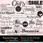 Focus on the Family WordArt Pack-$4.99 (Fayette Designs)
